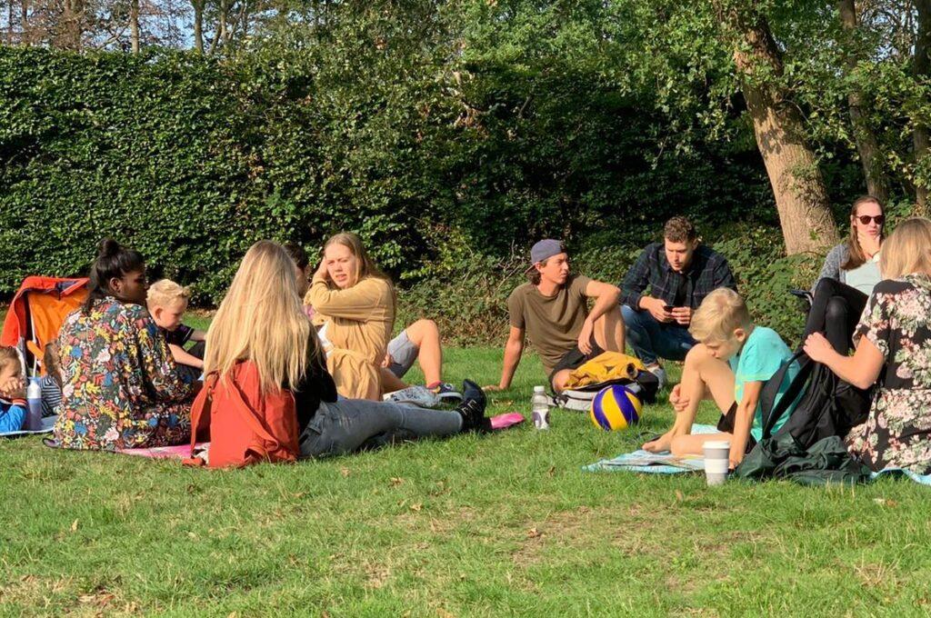 Zinzoekers in Park Kernhem